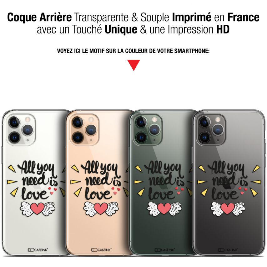 """Coque Gel Apple iPhone 11 Pro (5.8"""") Extra Fine Love - All U Need Is"""