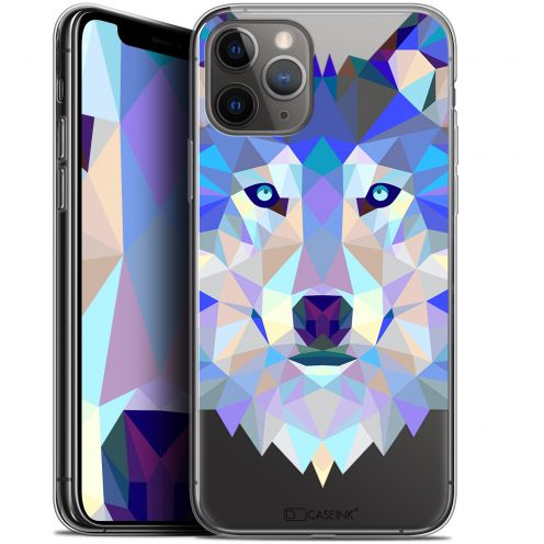 "Coque Gel Apple iPhone 11 Pro (5.8"") Extra Fine Polygon Animals - Loup"