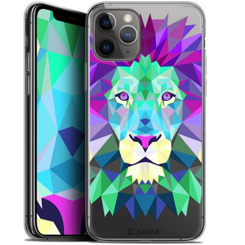 "Coque Gel Apple iPhone 11 Pro (5.8"") Extra Fine Polygon Animals - Lion"