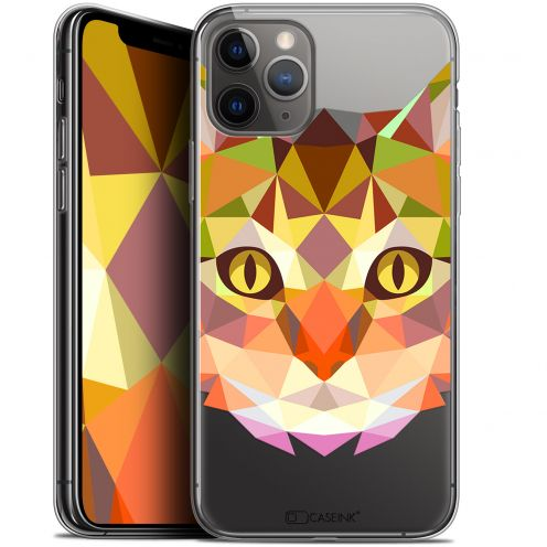"""Coque Gel Apple iPhone 11 Pro (5.8"""") Extra Fine Polygon Animals - Chat"""