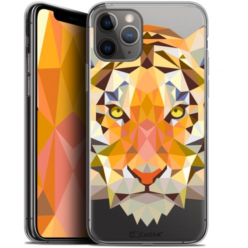 "Coque Gel Apple iPhone 11 Pro (5.8"") Extra Fine Polygon Animals - Tigre"