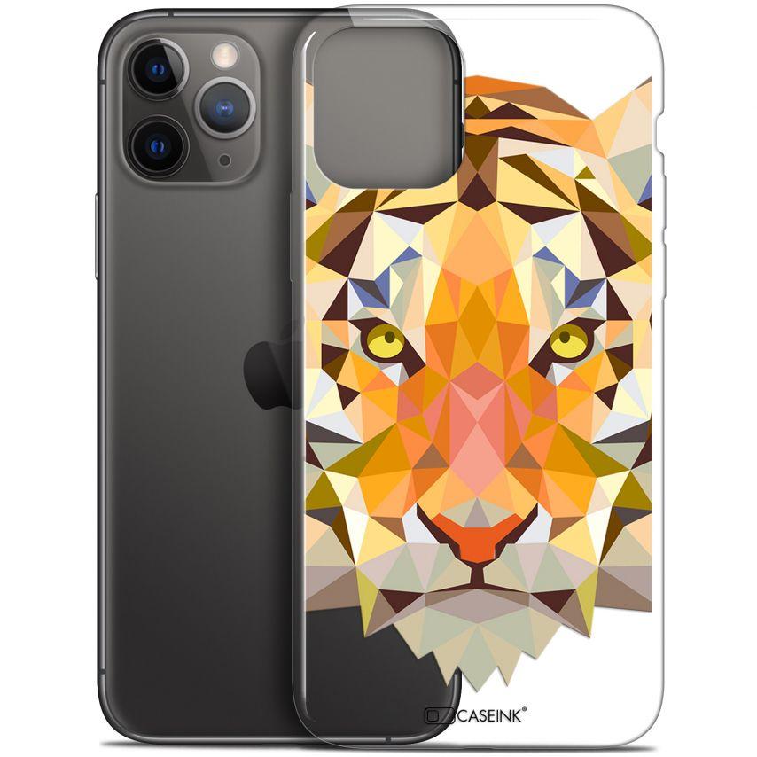 "Coque Gel Apple iPhone 11 Pro (5.8"") Extra Fine Polygon Animals - Tigre"