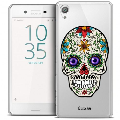 Coque Crystal Xperia X Extra Fine Skull - Maria's Flower