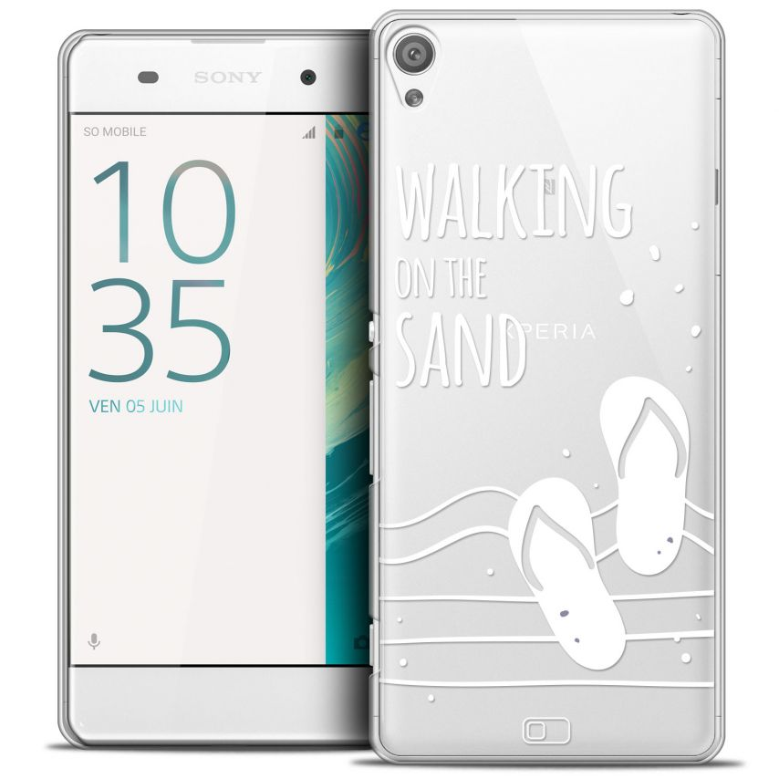 Coque Crystal Xperia XA Extra Fine Summer - Walking on the Sand