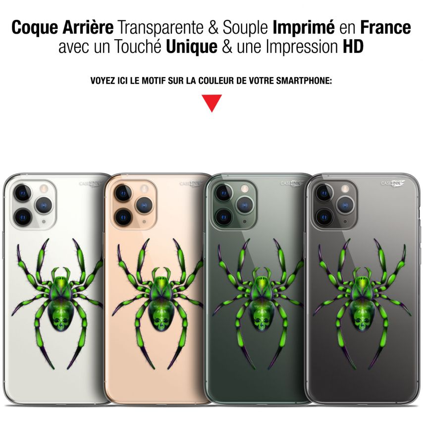 "Coque Gel Apple iPhone 11 Pro (5.8"") Extra Fine Motif - Arraignée Verte"