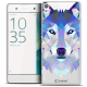 Coque Crystal Xperia XA Extra Fine Polygon Animals - Loup