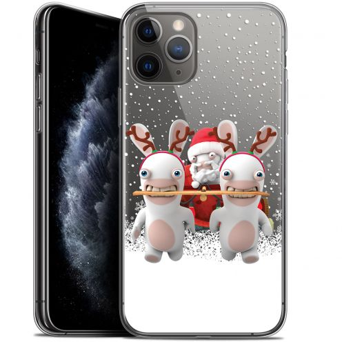 """Coque Gel Apple iPhone 11 Pro (5.8"""") Extra Fine Lapins Crétins™ - Lapin Traineau"""