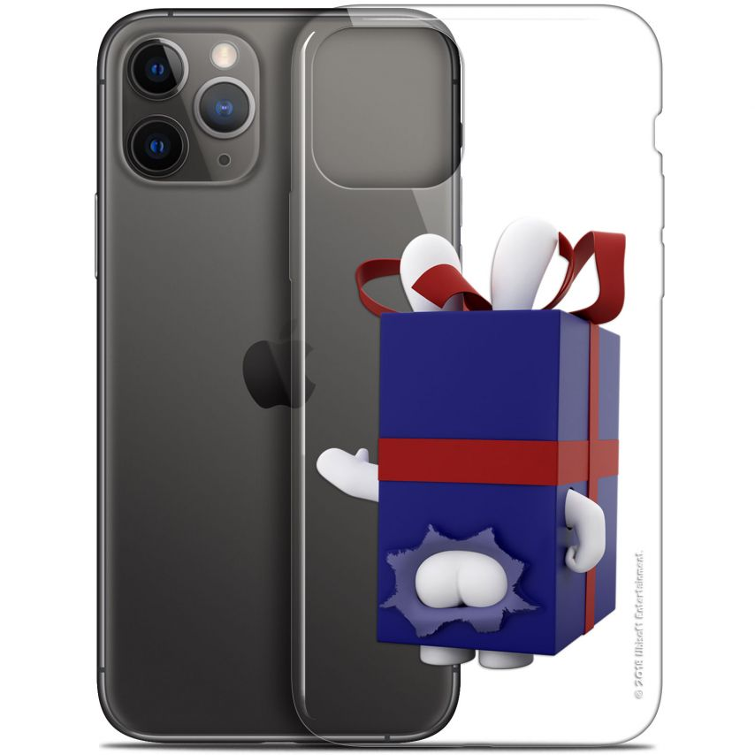 "Coque Gel Apple iPhone 11 Pro (5.8"") Extra Fine Lapins Crétins™ - Lapin Surprise Bleu"