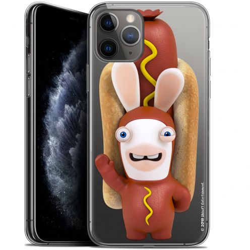 """Coque Gel Apple iPhone 11 Pro (5.8"""") Extra Fine Lapins Crétins™ - Hot Dog Crétin"""