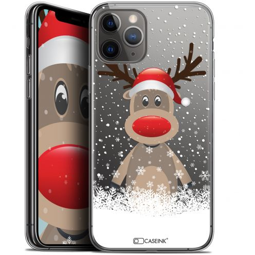 "Coque Gel Apple iPhone 11 Pro Max (6.5"") Extra Fine Noël 2017 - Cerf au Bonnet"