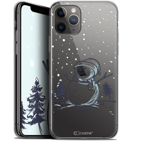 "Coque Gel Apple iPhone 11 Pro Max (6.5"") Extra Fine Noël 2017 - Bonhomme de Neige"
