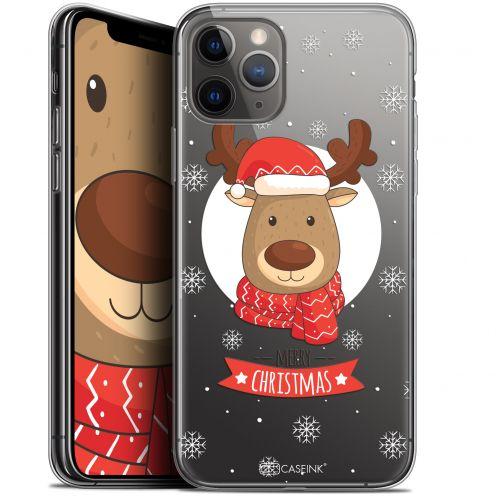 """Coque Gel Apple iPhone 11 Pro Max (6.5"""") Extra Fine Noël 2017 - Cerf à Echarpe"""