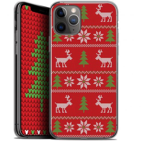 """Coque Gel Apple iPhone 11 Pro Max (6.5"""") Extra Fine Noël 2017 - Couture Rouge"""