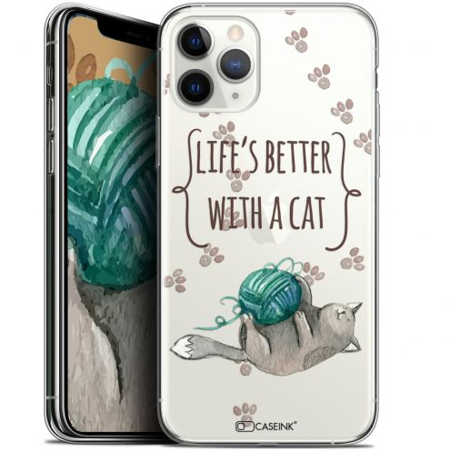 """Coque Gel Apple iPhone 11 Pro Max (6.5"""") Extra Fine Quote - Life's Better With a Cat"""