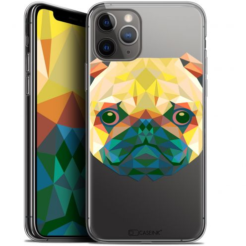 "Coque Gel Apple iPhone 11 Pro Max (6.5"") Extra Fine Polygon Animals - Chien"