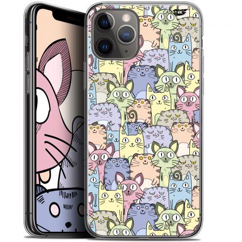 "Coque Gel Apple iPhone 11 Pro Max (6.5"") Extra Fine Motif - Foule de Chats"