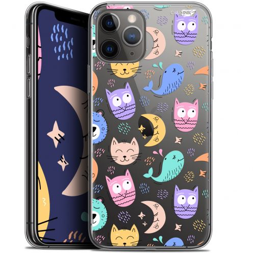 """Coque Gel Apple iPhone 11 Pro Max (6.5"""") Extra Fine Motif - Chat Hibou"""