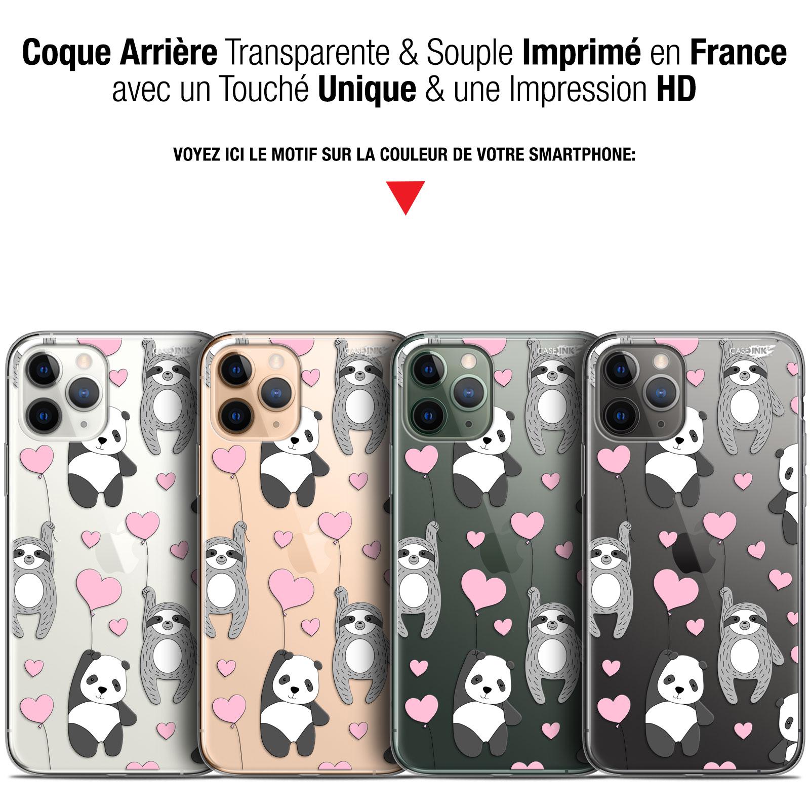 coque gel apple iphone 11 pro max 65 extra fine motif panda mour