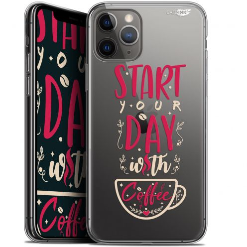 """Coque Gel Apple iPhone 11 Pro Max (6.5"""") Extra Fine Motif - Start With Coffee"""