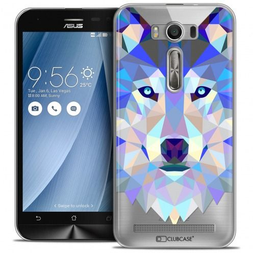 Coque Crystal Zenfone 2 Laser 5.0 (ZE550KL) Extra Fine Polygon Animals - Loup