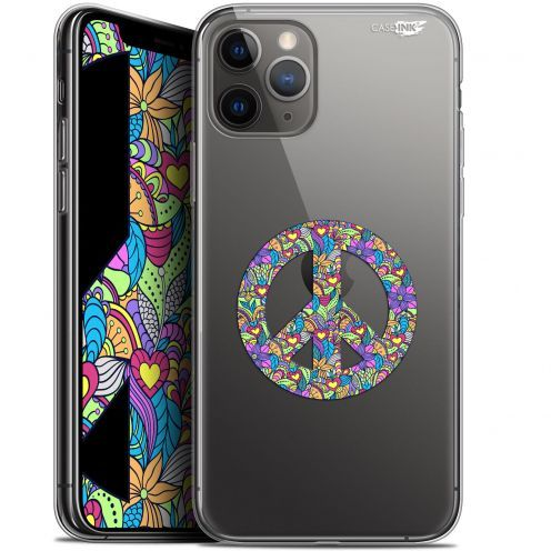 """Coque Gel Apple iPhone 11 Pro Max (6.5"""") Extra Fine Motif - Peace And Love"""