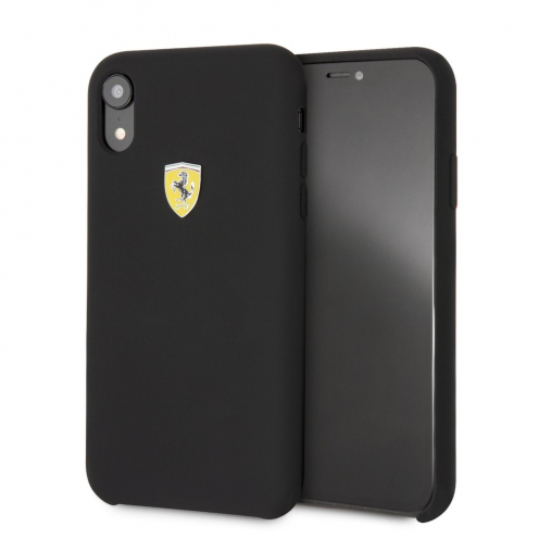 Coque Ferrari FESSIHCI61BK Iphone XR Noir