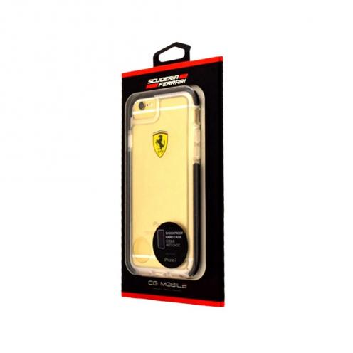 Coque Antichoc Ferrari FEGLHCP7BK iPhone 7 Noir
