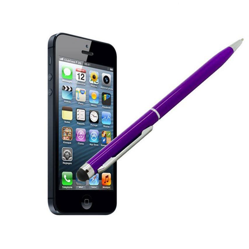 Visuel supplémentaire de Stylo tactile bille quart de tour violet