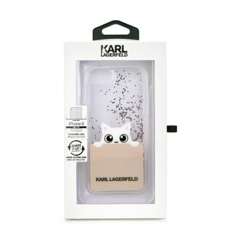 Coque Karl Lagerfeld® KLHCI8PABGNU iPhone 7/8 Liquid Or