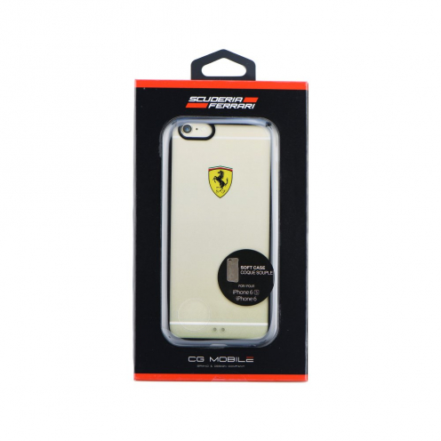 "Coque Ferrari FEHCP6BK Transparent iPhone 6 4""7"