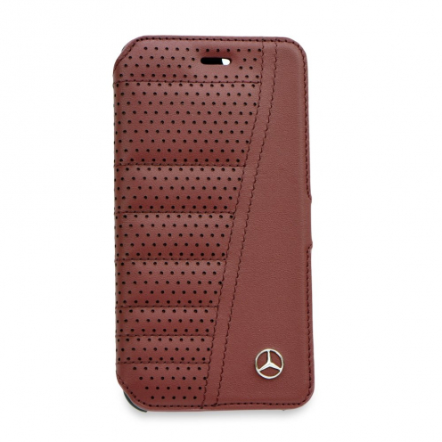 Etui Folio Book Mercedes MEFLBKP6SERE iPhone 6/6S rouge