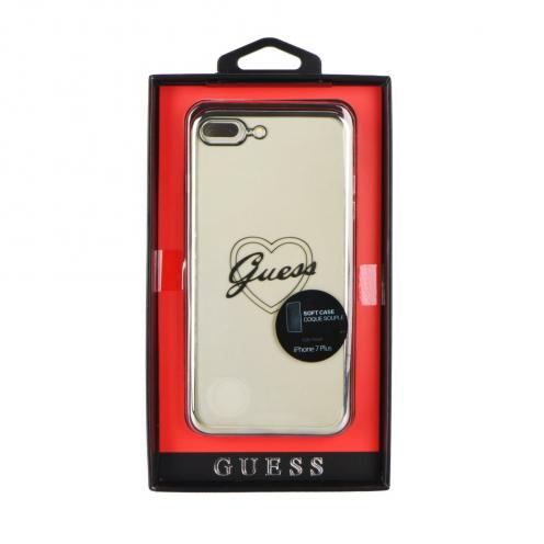 Coque GUESS® GUHCP7LTRHS iPhone 7 Plus Argent - transparent