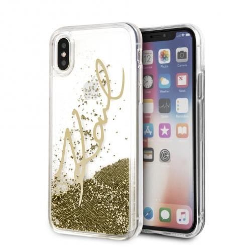 Coque Karl Lagerfeld® KLHCPXSGGO iPhone X/Xs Liquid Or