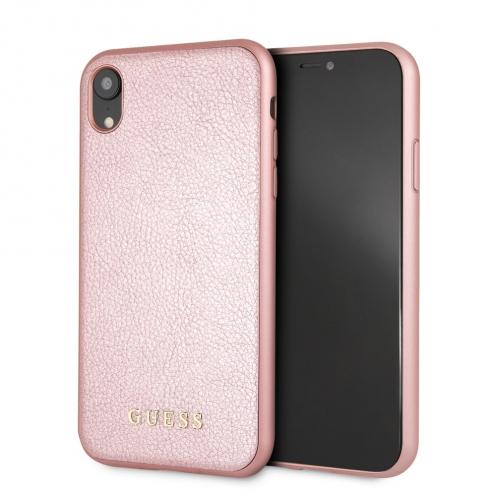 Coque GUESS® GUHCI61IGLRG iPhone XR rose-Or