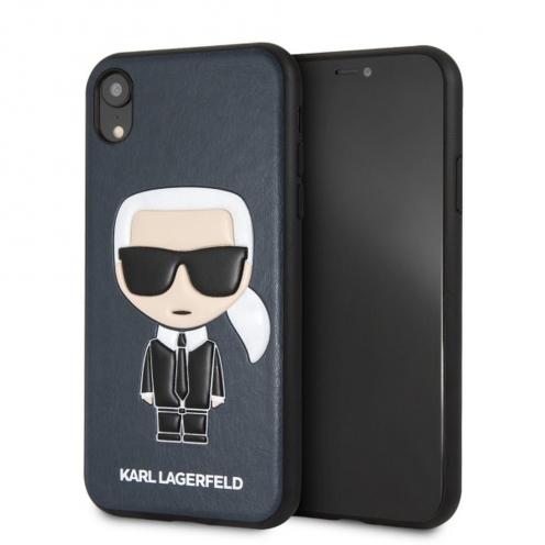 Coque Karl Lagerfeld® KLHCI61IKPUBL iPhone XR Bleu