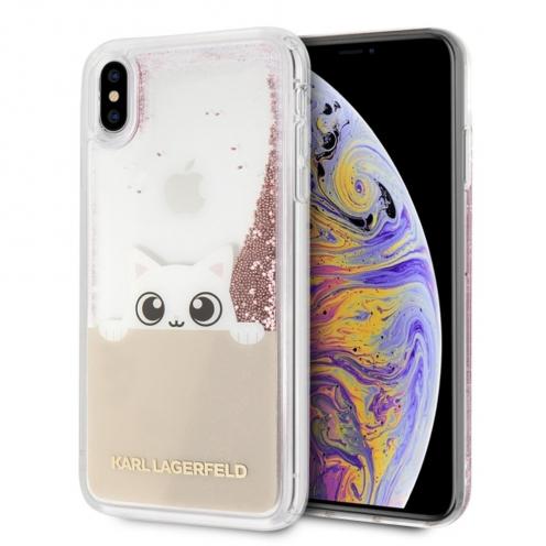 Coque Karl Lagerfeld® KLHCI65PABGNU iPhone XS Max Liquid Pink
