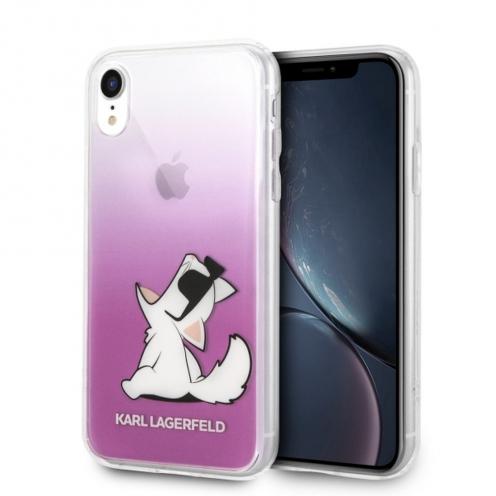Coque Karl Lagerfeld® KLHCI61CFNRCPI iPhone XR transparent Rose
