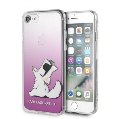 Coque Karl Lagerfeld® KLHCI8CFNRCPI iPhone 7/8 transparent Rose