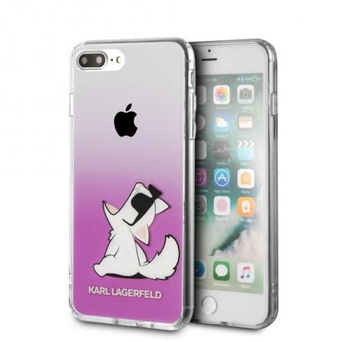 Coque Karl Lagerfeld® KLHCI8LCFNRCPI iPhone 7/8 Plus transparent Rose