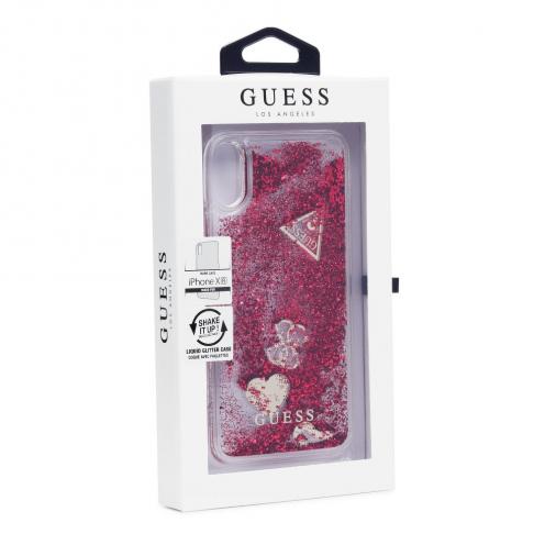 Coque GUESS® GUHCI61GLHFLRA iPhone XR Bordeaux