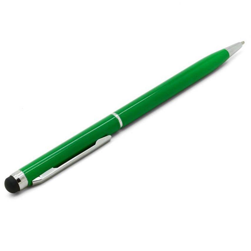 Vue complémentaire de Stylo tactile bille quart de tour vert