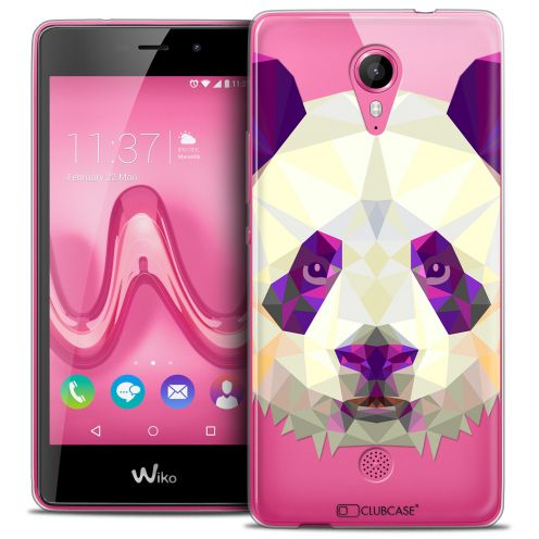 Coque Crystal Gel Wiko Tommy Extra Fine Polygon Animals - Panda