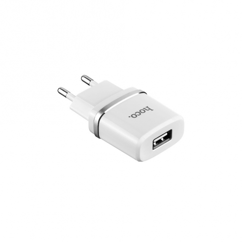 HOCO Chargeur Secteur smart single USB 1A C11 Blanc