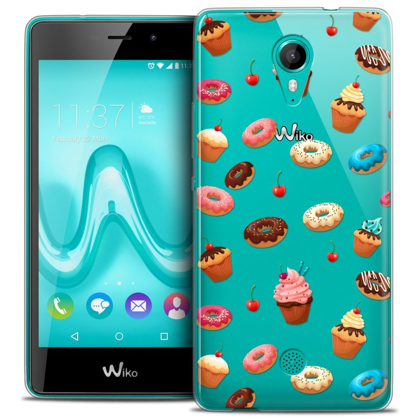 Coque Crystal Gel Wiko Tommy Extra Fine Foodie - Donuts