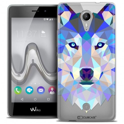 Coque Crystal Gel Wiko Tommy Extra Fine Polygon Animals - Loup