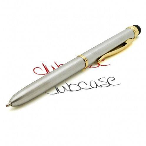 Visuel unique de Stylo tactile bille quart de tour 2 couleurs argent & or