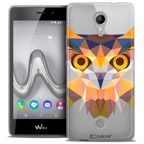 Coque Crystal Gel Wiko Tommy Extra Fine Polygon Animals - Hibou