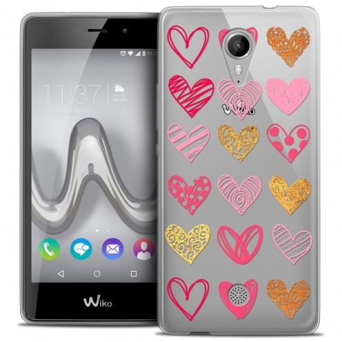 Coque Crystal Gel Wiko Tommy Extra Fine Sweetie - Doodling Hearts