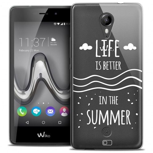 Coque Crystal Gel Wiko Tommy Extra Fine Summer - Life's Better