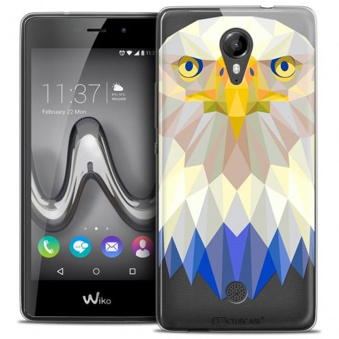 Coque Crystal Gel Wiko Tommy Extra Fine Polygon Animals - Aigle